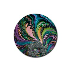 Special Fractal 02 Purple Drink Coaster (round) by ImpressiveMoments