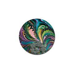 Special Fractal 02 Purple Golf Ball Marker 4 Pack by ImpressiveMoments