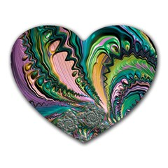 Special Fractal 02 Purple Mouse Pad (heart) by ImpressiveMoments