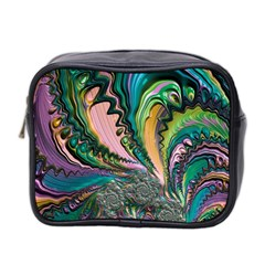 Special Fractal 02 Purple Mini Travel Toiletry Bag (two Sides) by ImpressiveMoments