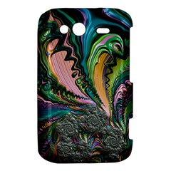 Special Fractal 02 Purple HTC Wildfire S A510e Hardshell Case by ImpressiveMoments