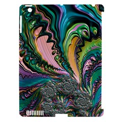 Special Fractal 02 Purple Apple Ipad 3/4 Hardshell Case (compatible With Smart Cover)