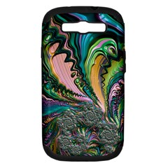 Special Fractal 02 Purple Samsung Galaxy S Iii Hardshell Case (pc+silicone) by ImpressiveMoments