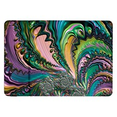 Special Fractal 02 Purple Samsung Galaxy Tab 8 9  P7300 Flip Case by ImpressiveMoments