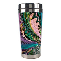 Special Fractal 02 Purple Stainless Steel Travel Tumbler by ImpressiveMoments