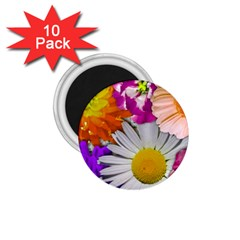Lovely Flowers,purple 1 75  Button Magnet (10 Pack) by ImpressiveMoments