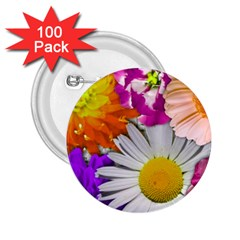 Lovely Flowers,purple 2 25  Button (100 Pack) by ImpressiveMoments