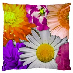Lovely Flowers,purple Large Cushion Case (two Sided)  by ImpressiveMoments