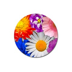 Lovely Flowers, Blue Magnet 3  (round) by ImpressiveMoments