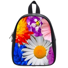 Lovely Flowers, Blue School Bag (small) by ImpressiveMoments