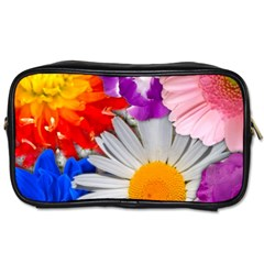 Lovely Flowers, Blue Travel Toiletry Bag (two Sides) by ImpressiveMoments
