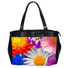 Lovely Flowers, Blue Oversize Office Handbag (Two Sides)