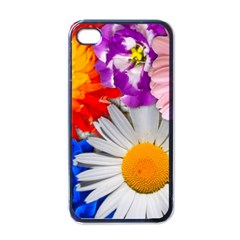 Lovely Flowers, Blue Apple Iphone 4 Case (black) by ImpressiveMoments