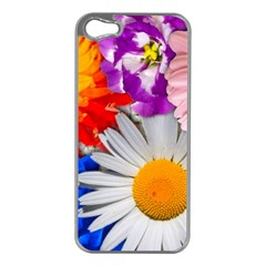 Lovely Flowers, Blue Apple Iphone 5 Case (silver) by ImpressiveMoments