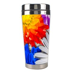 Lovely Flowers, Blue Stainless Steel Travel Tumbler by ImpressiveMoments
