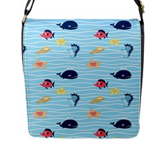 Fun Fish Of The Ocean Flap Closure Messenger Bag (large) by StuffOrSomething