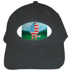 Painted Flag Big Foot Aust Black Baseball Cap