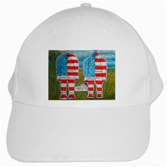 2 Painted Flag Big Foots Everglade White Baseball Cap by creationtruth