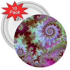 Raspberry Lime Delight, Abstract Ferris Wheel 3  Button (10 Pack) by DianeClancy