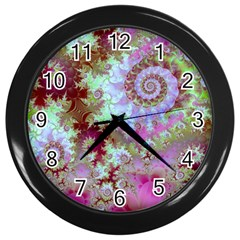 Raspberry Lime Delight, Abstract Ferris Wheel Wall Clock (black) by DianeClancy
