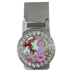 Raspberry Lime Delight, Abstract Ferris Wheel Money Clip (cz) by DianeClancy