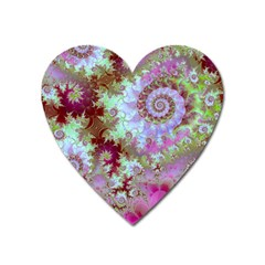 Raspberry Lime Delight, Abstract Ferris Wheel Magnet (heart) by DianeClancy