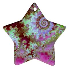 Raspberry Lime Delight, Abstract Ferris Wheel Star Ornament (two Sides) by DianeClancy