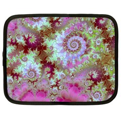 Raspberry Lime Delight, Abstract Ferris Wheel Netbook Case (xl) by DianeClancy