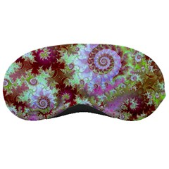 Raspberry Lime Delight, Abstract Ferris Wheel Sleeping Mask by DianeClancy