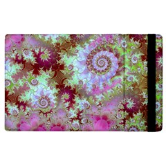 Raspberry Lime Delight, Abstract Ferris Wheel Apple Ipad 2 Flip Case by DianeClancy