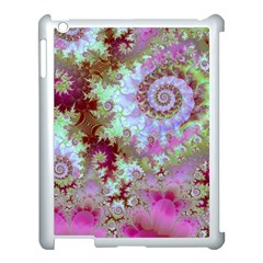 Raspberry Lime Delight, Abstract Ferris Wheel Apple Ipad 3/4 Case (white) by DianeClancy