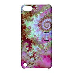 Raspberry Lime Delight, Abstract Ferris Wheel Apple Ipod Touch 5 Hardshell Case With Stand by DianeClancy