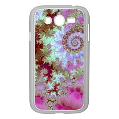 Raspberry Lime Delight, Abstract Ferris Wheel Samsung Galaxy Grand Duos I9082 Case (white) by DianeClancy