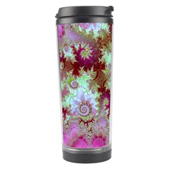Raspberry Lime Delight, Abstract Ferris Wheel Travel Tumbler by DianeClancy