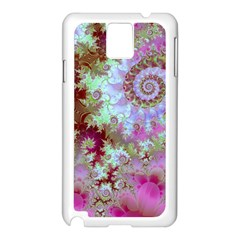 Raspberry Lime Delight, Abstract Ferris Wheel Samsung Galaxy Note 3 N9005 Case (white) by DianeClancy