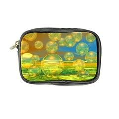 Golden Days, Abstract Yellow Azure Tranquility Coin Purse by DianeClancy