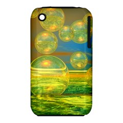 Golden Days, Abstract Yellow Azure Tranquility Apple Iphone 3g/3gs Hardshell Case (pc+silicone) by DianeClancy