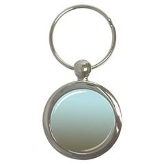 Blue Gold Gradient Key Chain (round) by zenandchic