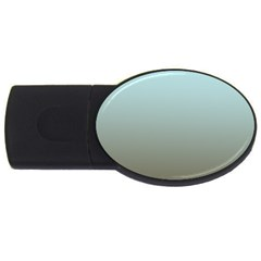 Blue Gold Gradient 4gb Usb Flash Drive (oval) by zenandchic