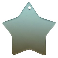Blue Gold Gradient Star Ornament (two Sides) by zenandchic