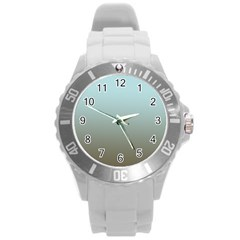 Blue Gold Gradient Plastic Sport Watch (large) by zenandchic