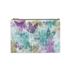 Joy Butterflies Cosmetic Bag (medium) by zenandchic