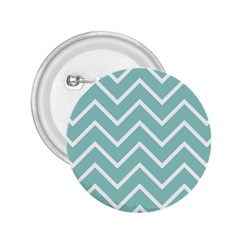 Blue And White Chevron 2 25  Button by zenandchic