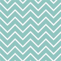 Blue And White Chevron Canvas 20  X 20  (unframed) by zenandchic