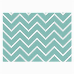 Blue And White Chevron Glasses Cloth (large) by zenandchic