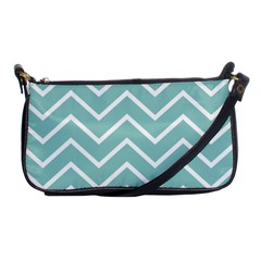 Blue And White Chevron Evening Bag by zenandchic