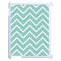 Blue And White Chevron Apple Ipad 2 Case (white) by zenandchic