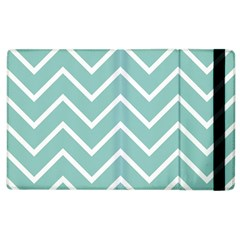 Blue And White Chevron Apple Ipad 2 Flip Case by zenandchic