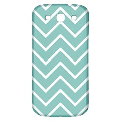 Blue And White Chevron Samsung Galaxy S3 S Iii Classic Hardshell Back Case by zenandchic