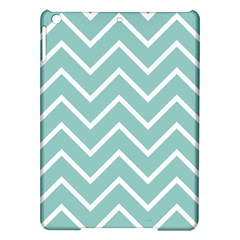 Blue And White Chevron Apple Ipad Air Hardshell Case by zenandchic